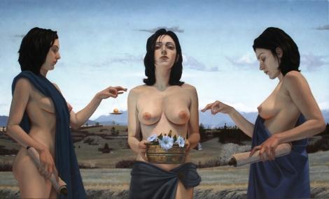 SEDGWICK_CHRIS_ThreeMythographers_29x48 Oil on Canvas(websize)